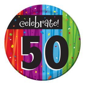 Milestone Celebrations 50Th Birthday Cake Plates (8 Pack)