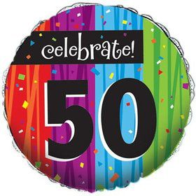 Milestone Celebrations 50Th Birthday Metallic Balloon (Each)