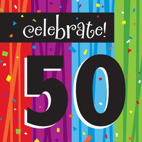 Milestone Celebrations 50Th Birthday Napkins (16 Pack)