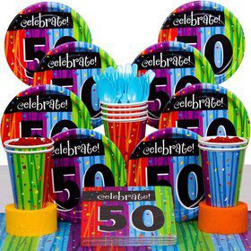 Milestone Celebrations 50Th Birthday Party Deluxe Tableware Kit