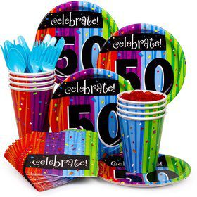 Milestone Celebrations 50Th Birthday Standard Tableware Kit