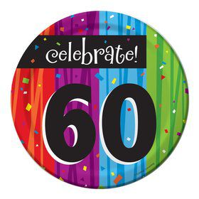 Milestone Celebrations 60Th Birthday Cake Plates (8 Pack)