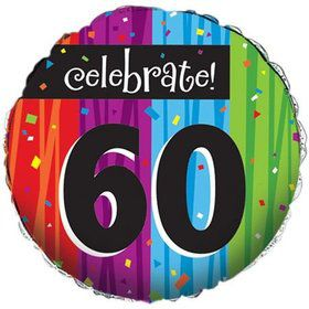 Milestone Celebrations 60Th Birthday Metallic Balloon (Each)