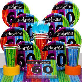 MILESTONE CELEBRATIONS 60TH Birthday Party Deluxe Tableware Kit