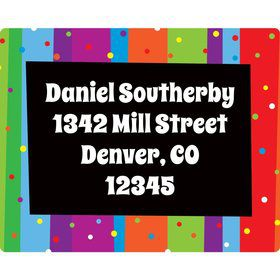 Milestone Celebrations Address Labels (Sheet Of 15)