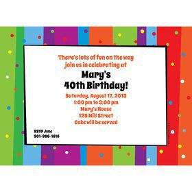 Milestone Celebrations Invitation (Each)