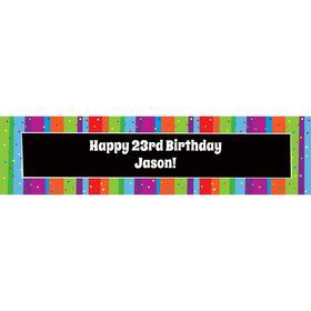 Milestone Celebrations Personalized Banner (Each)