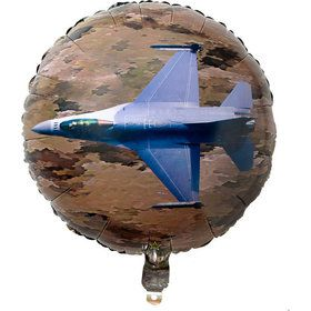 Military Camo Apache Helicopter Mylar Balloon (1)