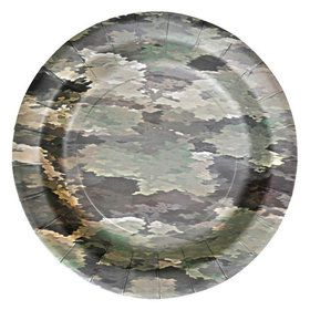 "Military Camo Party Plates 7"" (8)"