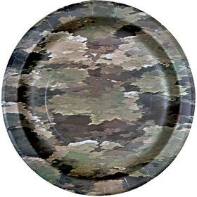 "Military Camo Party Plates 9"" (8)"