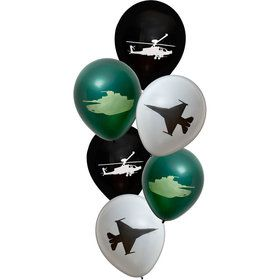 Miltary Hardware Latex Balloons (6)