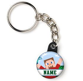 "Mind Craft Personalized 1"" Mini Key Chain (Each)"