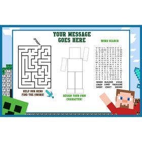 Mine Blocks Activity Mat (8 Pack)