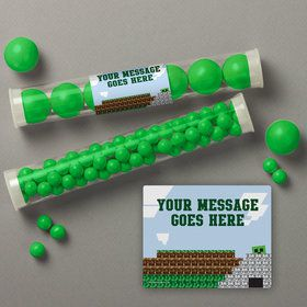 Mine Blocks Personalized Candy Tubes (12 Count)