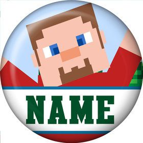 Mine Blocks Personalized Mini Button (Each)