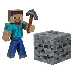 "Minecraft 3"" Core Steve with Accessory (Each)"