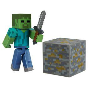 "Minecraft 3"" Core Zombie with Accessory (Each)"