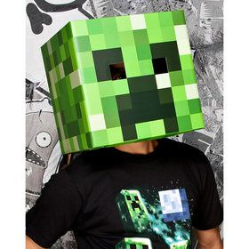Minecraft Creeper Head Mask Adult One-Size