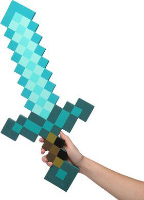 Minecraft Foam Diamond Sword (Each)