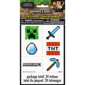 Minecraft Tattoo Sheets (4)