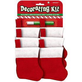 Mini Christmas Stocking Decorating Kit (Each)
