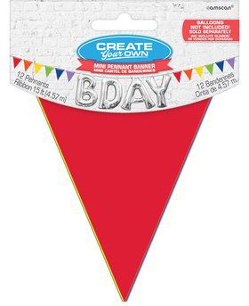 Mini Create Your Own Rainbow Polka Dots Pennant Banner
