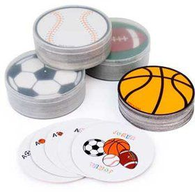 Mini Deck of Sports Ball Cards (12 Count)
