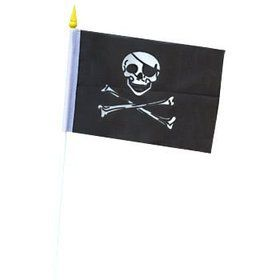 Mini Pirate Flag (12 Count)