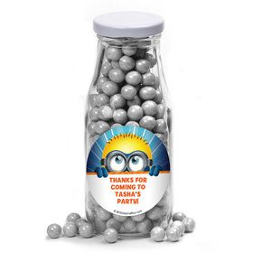 Minion Personalized Glass Milk Bottles (10 Count)