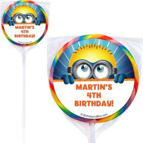 Minion Personalized Lollipop (12 Pack)