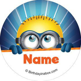 Minion Personalized Mini Stickers (Sheet of 24)