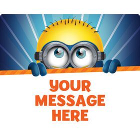Minion Personalized Rectangular Stickers (Sheet of 15)