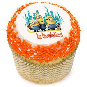"Minions Le Buddies 2"" Edible Cupcake Topper (12 Images)"