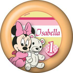 Minnie 1st Bday Personalized Button (Each)