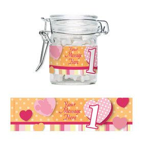 Minnie 1St Bday Personalized Glass Apothecary Jars (12 Count)