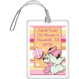 Minnie 1st Bday Personalized Luggage Tag (Each)