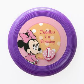 Minnie 1st Bday Personalized Mini Discs (Set of 12)