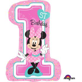 "Minnie 1st Birthday 28"" Shape Balloon (Each)"