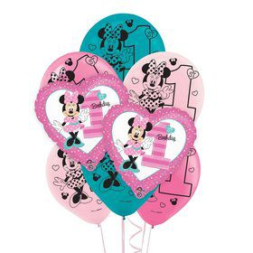 Minnie 1st Birthday 8 pc Balloon Kit