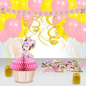 Minnie 1st Birthday Decoration Kit