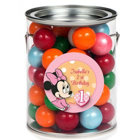 Minnie 1st Birthday Personalized Paint Can Favor Container (6 Pack)
