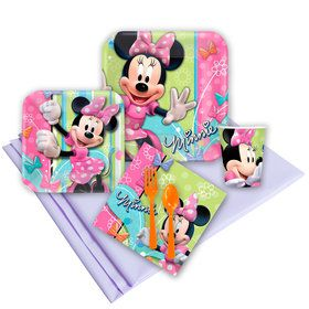 Minnie Birthday Party Deluxe Tableware Kit Serves 8