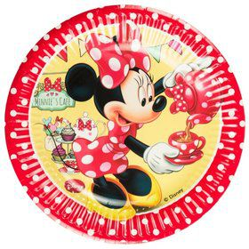 Minnie Cafe Paper Dessert Plates (8 Pack)