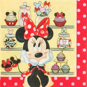 Minnie Cafe Paper Napkins (20 Pack)