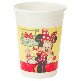 Minnie Cafe Plastic 6.7oz Cups (8 Pack)