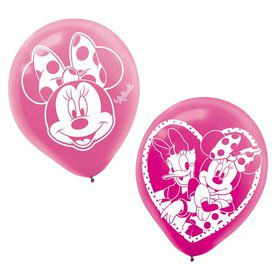 "Minnie Mouse 12"" Latex Balloons (6 Pack)"