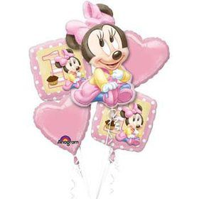 Minnie Mouse 1st Birthday Balloon Bouquet (each)