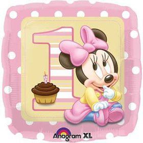 Minnie Mouse 1st Birthday Balloon (each)