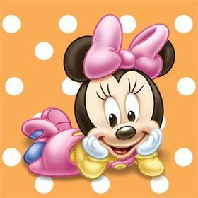 Minnie Mouse 1st Birthday Beverage Napkins (16-pack)