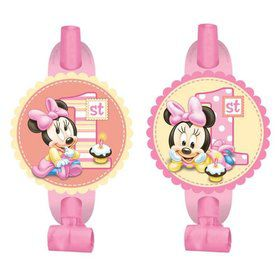 Minnie Mouse 1st Birthday Blowouts (8 Pack)